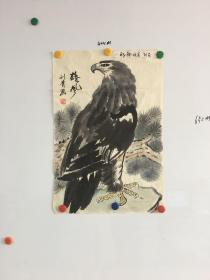 北京画家刘青鹰图一幅65*44CM:雄风