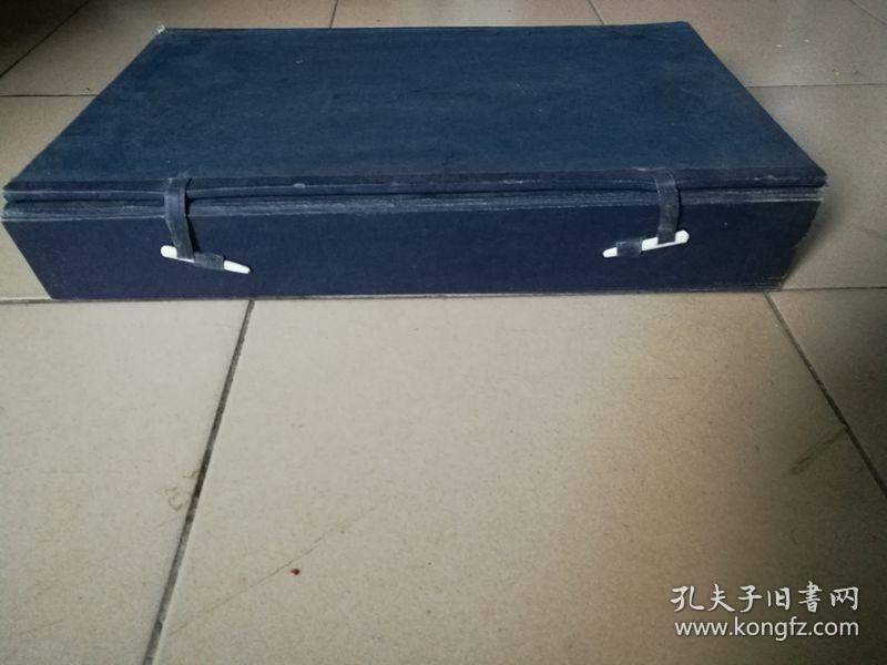 【清末民初】 特大线装书函套高42.6x宽27.5x厚7公分骨质别子4.6公分