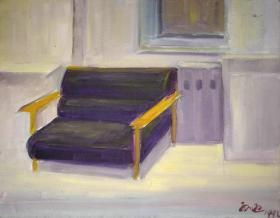 油画名家带框布面油画《双人椅》—【低价拍售完为止】油画作品(*U-WPE3VC)
