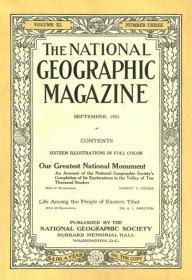 现货national geographic 美国国家地理1921年9月阿拉斯加,中国西藏东部
