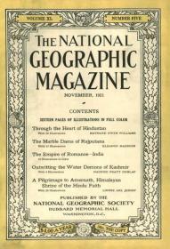现货national geographic 美国国家地理1921年11月印度专辑
