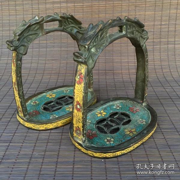 古玩古董收藏 精品老货 景泰蓝马镫