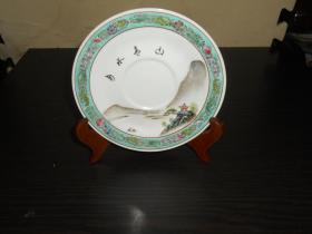 景德镇手绘山水画瓷盘 (直径15.2cm)