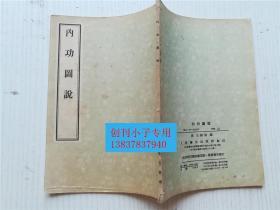 内功图说 清 王祖源编  人民卫生出版社1957年印刷 书脊处有六个细小的钉孔,书脊有小损。