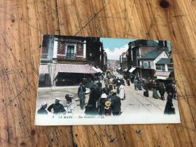 2775:1921年 实寄街景 明信片《LE MANS --RUE GAMBETTA》