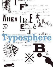 象形五千字体艺术Typosphere: New Fonts to Make You Think 英文原版 字体设计 样板房装饰外文真书 黑白灰
