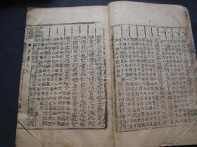诗传大全 卷九卷十共一册 线装本 朝鲜刻本