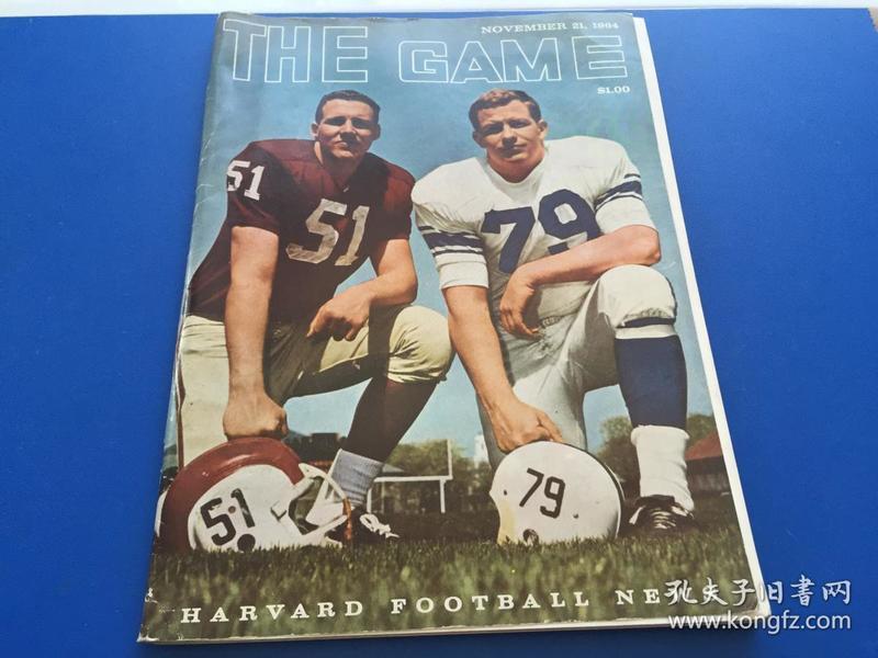 THE   GAME【橄榄球游戏】 1964年  16开 杂志
