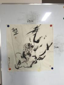 甘肃画家侯昊耀精美国画:猴 一幅  69CM*70CM