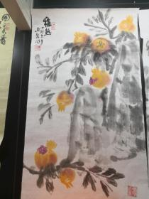 中美协会员 名家 尹延新 保真花鸟国画9图片