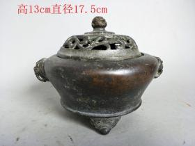 古玩古董明代紫铜熏炉