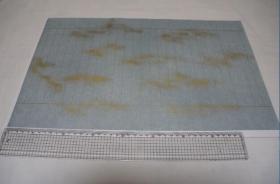 写经用纸51  手漉 高级装饰和纸(金箔飞砂  1枚 淡蓝色)