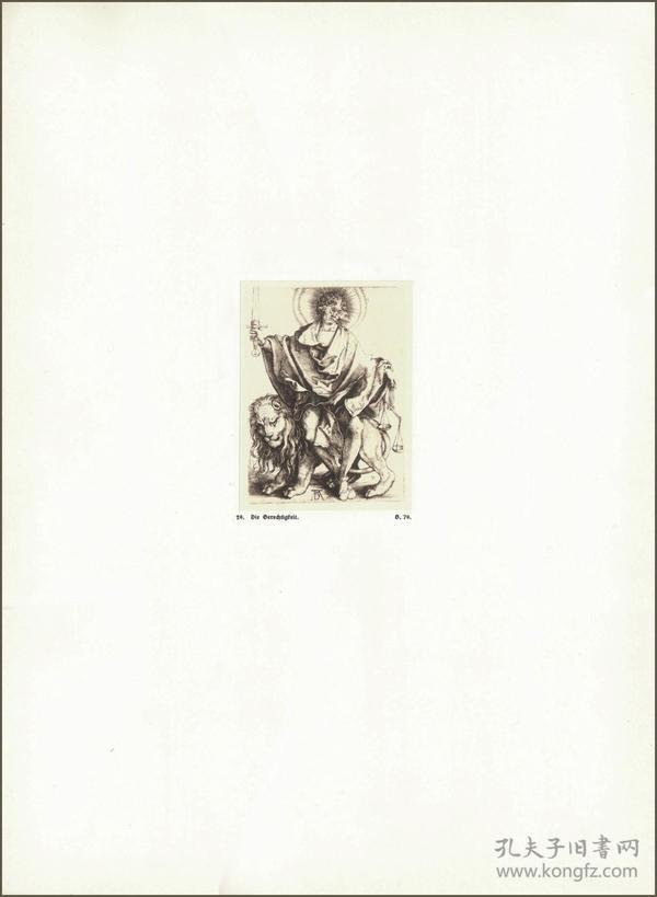 1914年,丢勒版画仿真复制《正义》,43.7×32cm