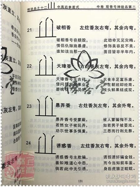 实用礼物 香谱图解 佛教道教经典书籍仙家香谱图 预测