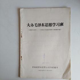 大办毛泽东思想学习班