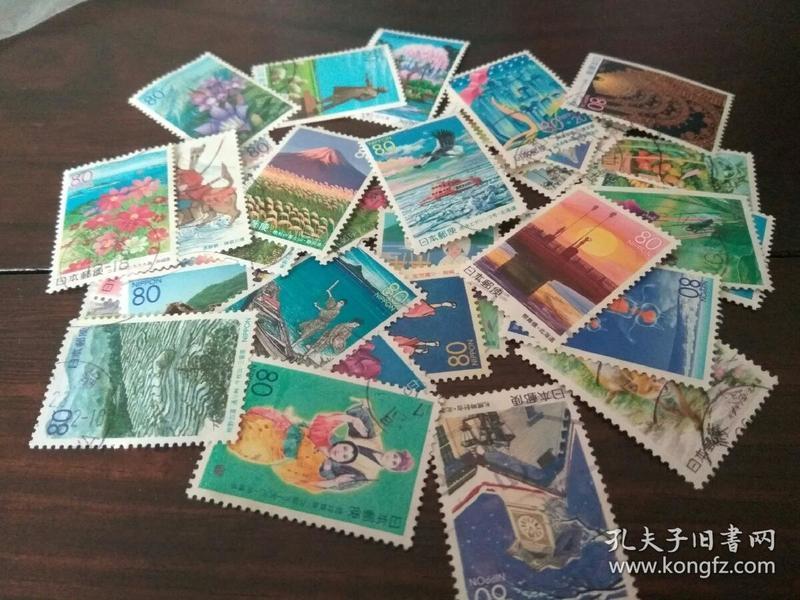 日本邮票一小堆