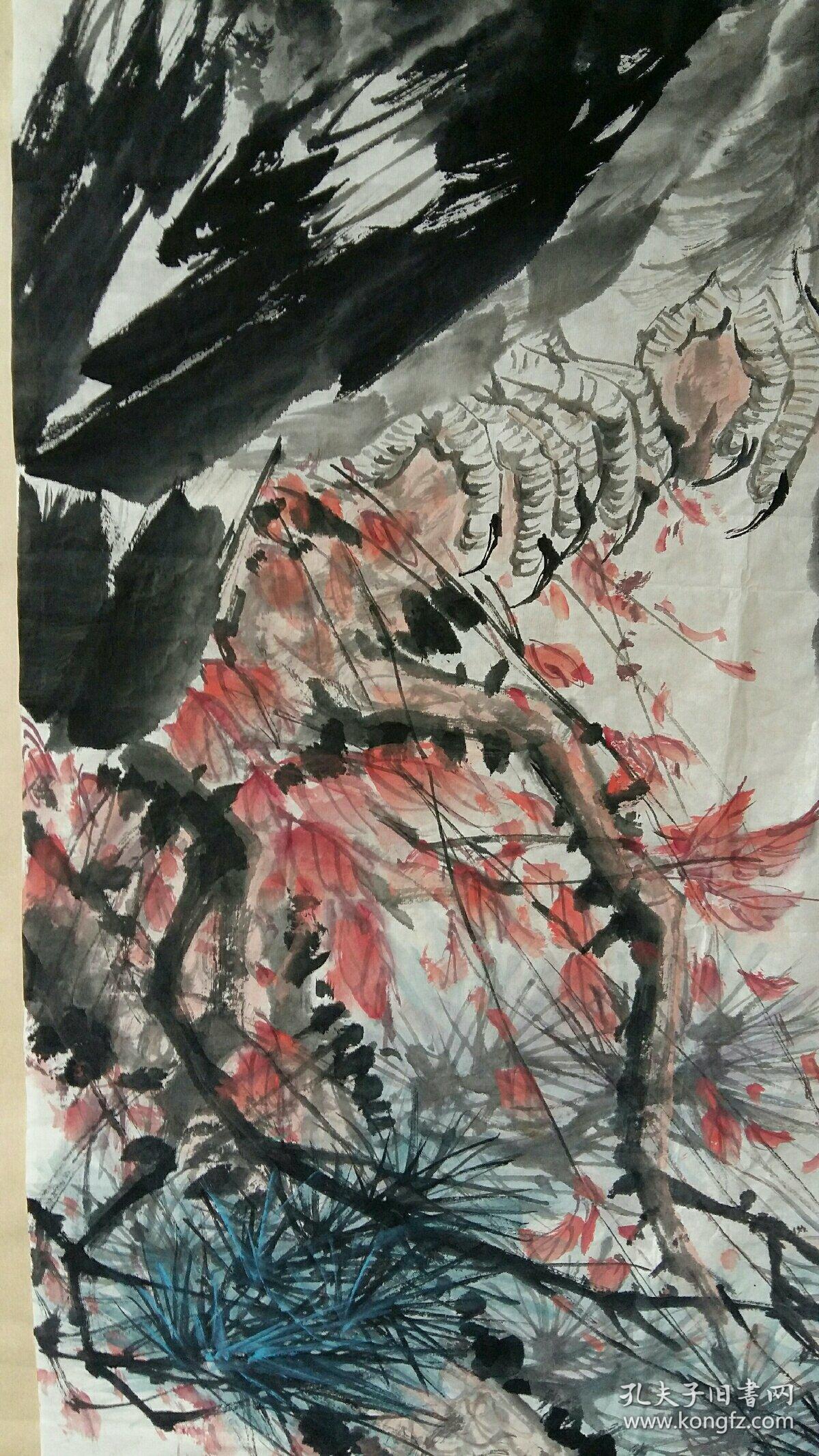 合肥老画家(葛俊生)68×137……鹰图片