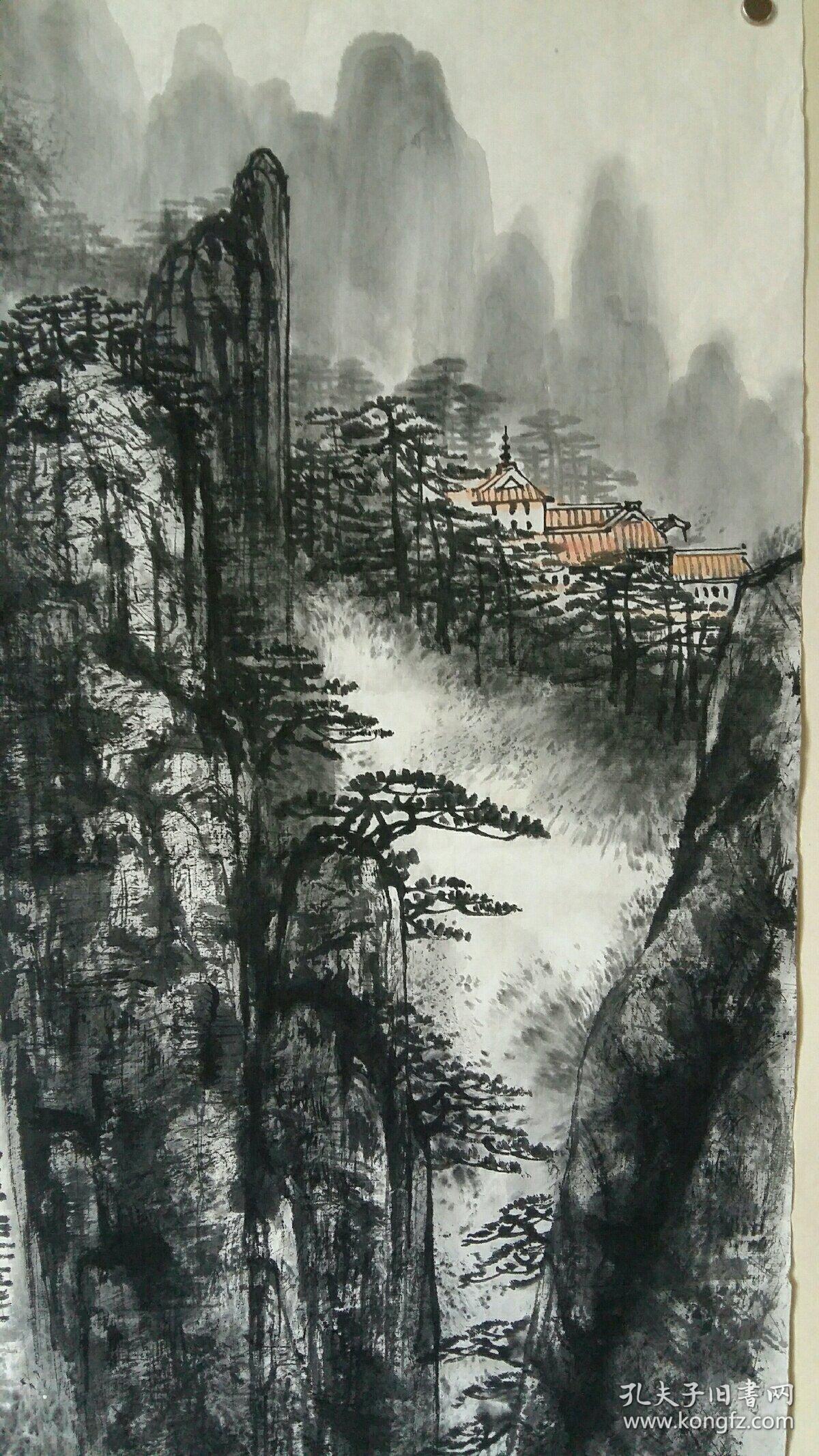 安徽合肥市著名老画家(童乃寿)68×68……山水图片