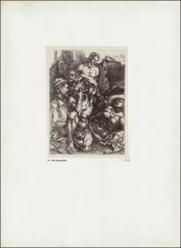 1914年,丢勒版画仿真复制《五个人物习作》,43.7×32cm