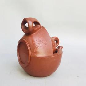 宜兴紫砂 潘持平制 壶中壶紫砂壶 有款识品如图一眼货