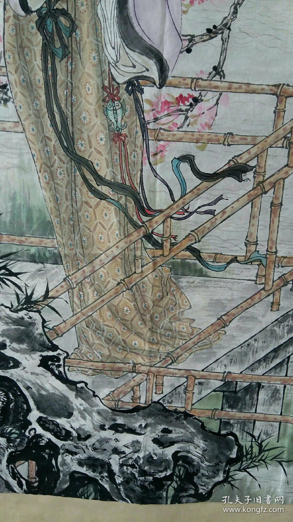 安徽著名老画家(戴维祥)68×137……仕女图片