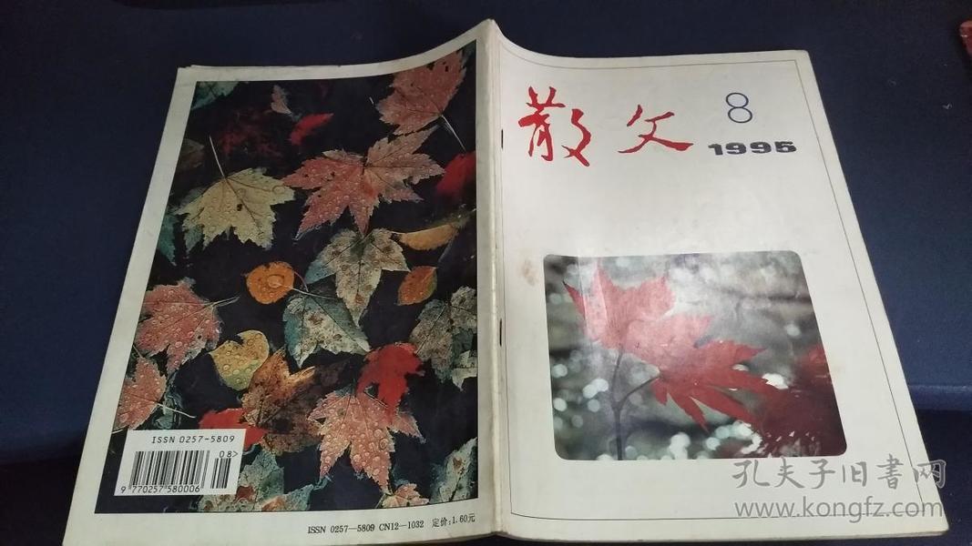 散文 1995年第8期(总188期)虎门凭吊 王文杰,百载留情 卢岚,欲说买书却羞涩 王建辉 等
