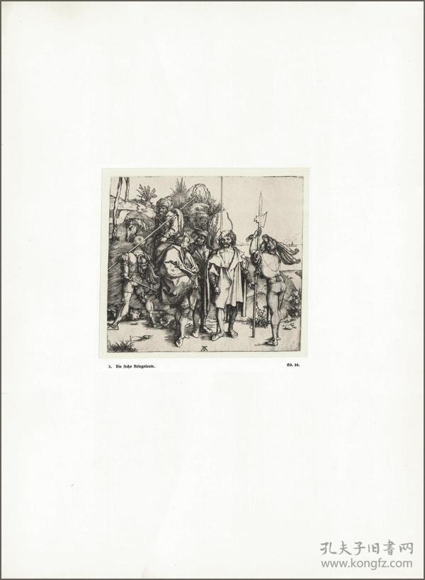 1914年,丢勒版画仿真复制《六个人的战争》,43.7×32cm