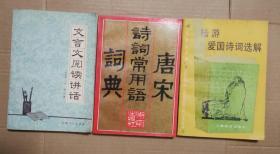唐宋诗词常用语词典