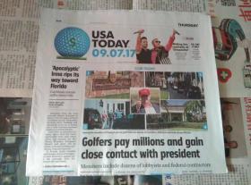 USA TODAY 国际版今日美国 2017/09/17 外文原版过期报纸学习参考资料