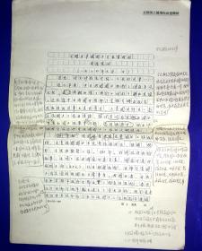 2AU6815 全国国土规划办 杨邦杰手稿12页8开 会晤日本国国土厅长官时的谈话提纲