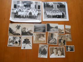 """参加""""两航起义""""、曾任哈军工教授:邹志楷(1919~2015)民国和1980年代老照片15张「包括民国时期友朋签赠照片和1943年摄灌县索桥等」"""