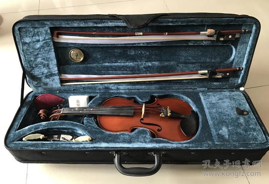 二手儿童小提琴1/4小提琴虎皮纹带原盒