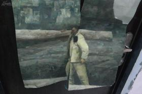 纯手绘油画布面纯手绘,中国油画家协会会员,中国版画家协会会员,中国美术家协会会员,中国人民解放军艺术委员会委员 孔平 人物