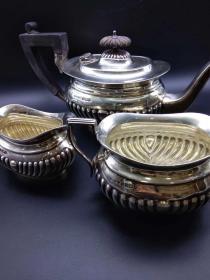 欧洲古董 餐具 整套 银器 狮子标记 总重770克