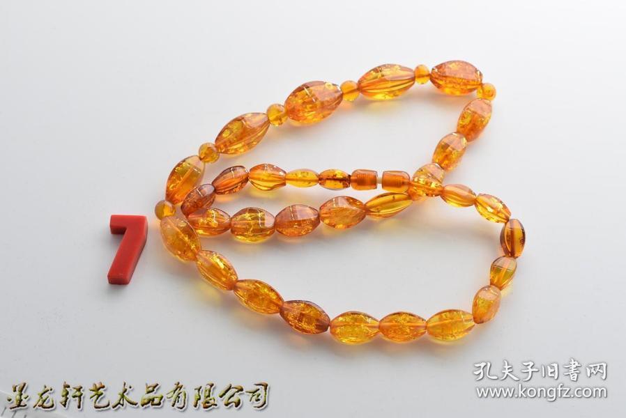 E0015  花珀项链 是波罗地海原料压制的花珀 日本回流