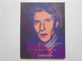 CHRISTIES Art dApres-guerre et contemporain 2009(佳士得 2009年战后和当代艺术拍卖) 法语 大16开