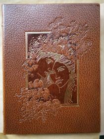1983年法文版 《Daphnis and Chole》 Paul Dauce双色石版画10幅 每页均有页边绘饰 限量编号本 皮装函套 封面烫金压花