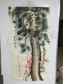 山西画家李富堂精美国画:万古长青 一幅  69CM*130CM