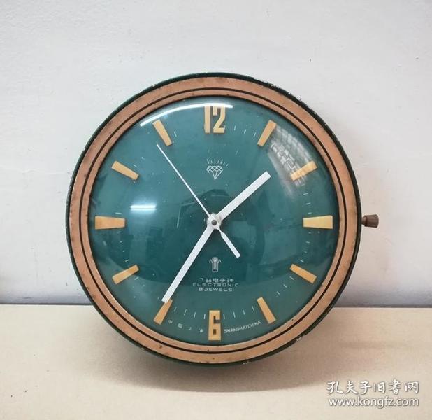美观的文革上海八钻电子挂钟