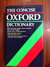 英国进口原装英国印刷词典 简明牛津辞典第7版The Concise Oxford Dictionary of Current English the 7th Edition Hardcover