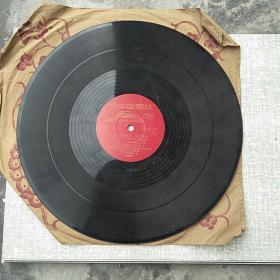 文革黑胶木唱片_为毛主席题词、语录曲谱,为林副主席题词曲谱