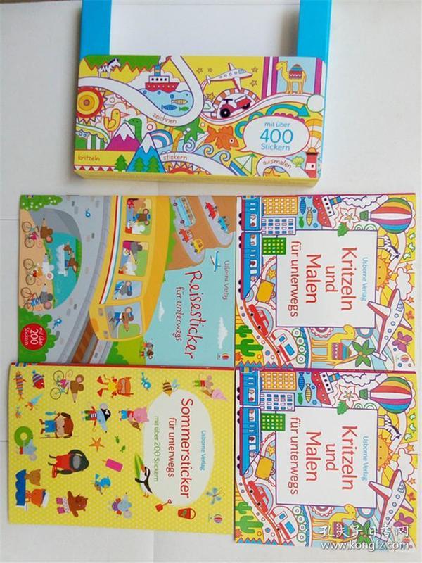 Meine liebsten Mitmachbücher für unterwegs (German)  德国 平装书4册