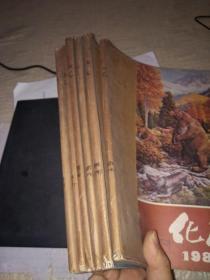 化石1982---1987年1-4期全 季刊 (生物考古类)【16开自制平装馆藏】共6年24期合售