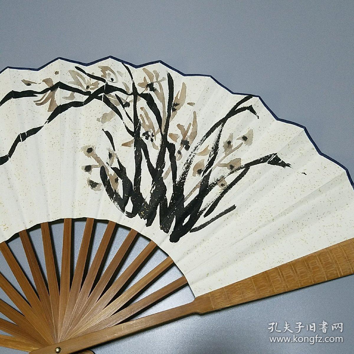安徽萧县著名画家 郑正绘画扇子一把图片