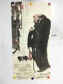 山东著名画家 杨军 精美国画:德悟图 一幅 50CM*100CM  保真