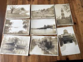 2777:民国颐和园风景照无格式 明信片 8张 ,中英文介绍