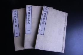 1898年 和刻本《中洲文稿第一集》三卷三册全 精写刻 汉诗文集