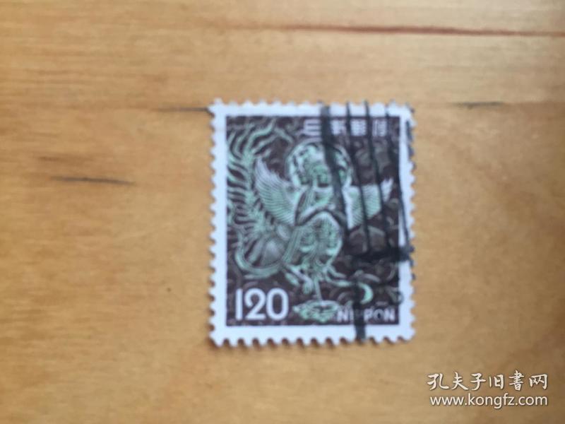 日本邮票 1972-1975 动植物国宝(2组)新版2次    120日元(极乐鸟) (信销票)