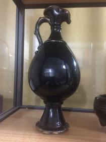 宋代瓷器黑釉凤嘴执壶