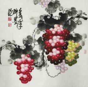 ★【顺丰包邮】【王成喜】中国当代著名画家、中美协理事、手绘四尺斗方(69*69cm)2买家自鉴。